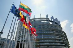 EU Parliment - Strasbourg - here's an interesting one- the building design is based around the Tower of Babel in Babylon, purposely.
