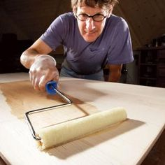 these tips and techniques for applying oil-based polyurethane produce virtually flawless results. they include using a roller, using wipe-on poly and above all controlling dust. Techniques de Travail du Bois How to Get a Smooth Polyurethane Finish Woodworking Shows, Woodworking For Kids, Woodworking Plans, Woodworking Projects, Popular Woodworking, Woodworking Furniture, Unique Woodworking, Woodworking Techniques, Woodworking Classes