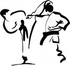 Kumite als Zeichnung/Inspiration. Shotokan Karate, Kyokushin Karate, Aikido, Kendo, Karate Gi, Goju Ryu, Bjj Memes, Ju Jitsu, Samurai Art