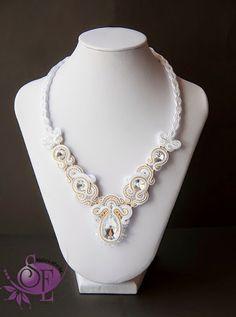 Szkatułka Emi: #141 Naszyjnik ślubny sutasz #necklet #soutache