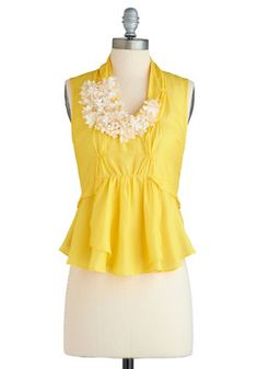 Luminous Blooms Top