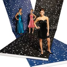 White Stars on Blue Background Paper-A Night Under the Stars, Starry Nights, Prom Decorations