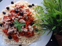Spaghetti Thon. Ich liebe tunesische Spaghetti, besonders mit so einer leckeren Soße und…