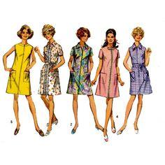 Mod shift dress sewing pattern Simplicity 8285 Bust 38
