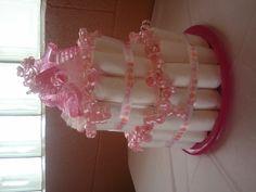 Pretty Pink Diaper Cake