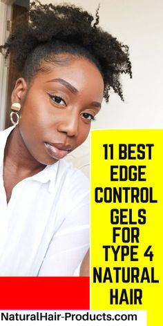 Olive Oil Edge Control, Best Edge Control, Natural Hair Gel, Natural Hair Styles, Type 4c Hairstyles, Black Hairstyles, Flaxseed Gel, 4b Hair, Type 4 Hair