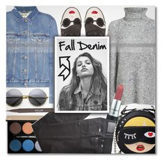 """Fall Denim"" by anilovic ❤ liked on Polyvore featuring Alexander Wang, Alice + Olivia, Acne Studios, Lancôme, BRAX, Stila and denimjackets"