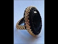 Tutorial: DIY Peyote Ring with size 11 delica and size 15 seed beads Seed Bead Jewelry, Diy Jewelry, Beaded Jewelry, Handmade Jewelry, Jewelry Design, Jewellery, Beaded Rings, Beaded Bracelets, Bead Jewelry