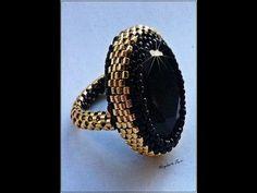 ▶ Tutorial: DIY come creare una base per anelli rigida a peyote utilizzando delica11 e rocailles 15 - YouTube