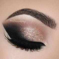 Rose Gold Glam Cat Smokey Eyes Makeup Tutorial