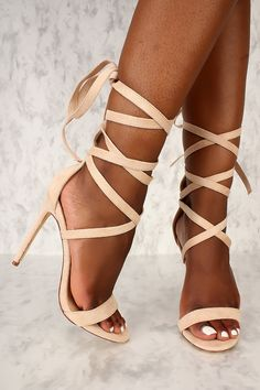These sexy and stylish single sole heels are a must have! Features, a faux suede texture, open toe, strappy lace tie to style as liked, and a cushioned foot bed. Approximately a 4 inch heel. High Heel Pumps, Pumps Heels, Stiletto Heels, Neon Pink Heels, Cute High Heels, Prom Shoes, Spring Shoes, Womens High Heels, Me Too Shoes
