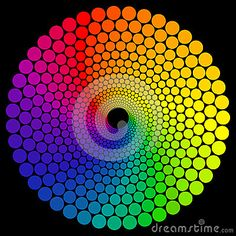 Illustration about Color wheel or color circle isolated on black background. Illustration of graphic, ring, colorful - 56067305 Fractal Art, Fractals, Rainbow Colors, Vibrant Colors, Color Wheel Projects, Circle Geometry, Summer Art Projects, Rainbow Quilt, Geometric Drawing
