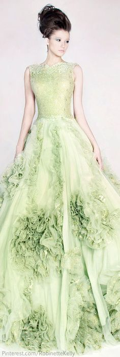 Evening gown, couture, evening dresses, formal and elegant Rami Kadi Couture | S/S 2013