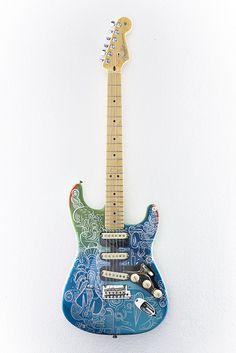 Tim Biskup Handpainted Fender Stratocaster Guitar | eBay