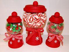 DIY Christmas candy holders... cute idea