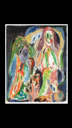 Pierre Alechinsky - Jeunes voisins, 1964 - Oil on canvas - 80,5 x 65 cm Nice Art, Cool Art, Pastel Drawing, Expressionism, Arts, Contemporary Art, Paintings, Abstract, Drawings