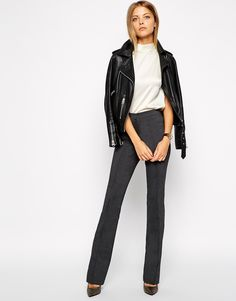 ASOS Flare Trousers with Pintuck