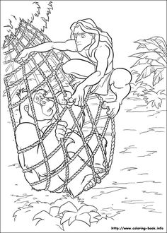 Tarzan coloring picture