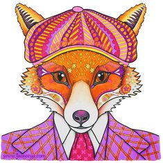 Sven The Dapper Fox From Thaneeya McArdles Animals Coloring Book