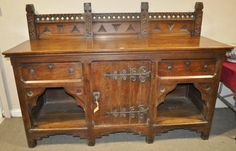 Burstow and Hewett : A Victorian aesthetic oak sideboard, in the manner : Online Auction Catalogue