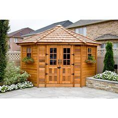 Outdoor Living Today 9 ft. x 9 ft. Penthouse Cedar Garden Shed-PEN99 - The Home Depot