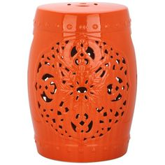 House of Hampton Tipton Flora Garden Stool Finish: Orange