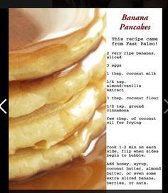 Paleo banana pancakes made with coconut flour.