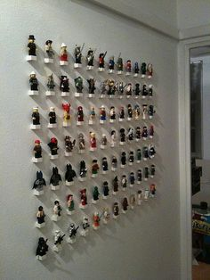 Minifig Collection on the wall (phase 2) | Flickr - Photo Sharing!