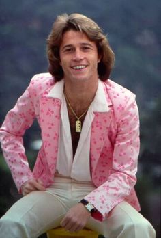 Andy Gibb. Already loved the BG's before Saturday Night Fever, then when Andy came in the spotlight..., wow. Crush big time!! Who else could wear a pink jacket so well?!