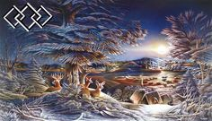 Evening on the Ice - Terry Redlin - World-Wide-Art.com