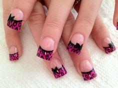 Stylish Nail Art Designs with Bows - Nadyana Magazine Nail Designs 2014, Cute Acrylic Nail Designs, Fingernail Designs, French Nail Designs, Cute Acrylic Nails, Toe Designs, Cheetah Nails, Pink Leopard, Nail Designer