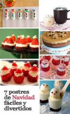 7 Postres de Navidad fáciles y divertidos Candy Recipes, Wine Recipes, Dessert Recipes, Desserts, Christmas Treats, Holiday Treats, Christmas Cookies, Yummy Drinks, Yummy Food