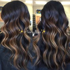 Balayage Blonde Ends - 20 Fabulous Brown Hair with Blonde Highlights Looks to Love - The Trending Hairstyle Highlights For Dark Brown Hair, Brown Hair Shades, Brown Ombre Hair, Brown Blonde Hair, Ombre Hair Color, Brown Hair Colors, Hair Highlights, Dark Hair, Golden Blonde