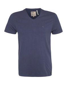 GARCIA T Shirt mit V Ausschnitt