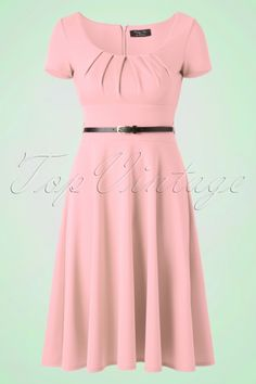 Vintage Chic  50s Marcella Swing Dress in Blush 102 22 18593 20160407 0018W