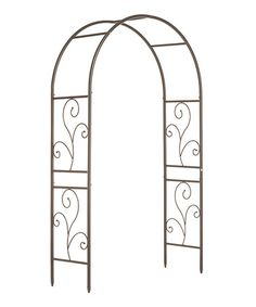 Another great find on #zulily! Wrought Iron Scrollwork Arbor #zulilyfinds
