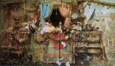 José Benlliure y Gil (1855-1937)-'Carnival in Rome
