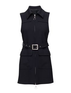 DAY - Christiana Front zip closure Two front flap pockets Belted waist Point collar Stretch fit Cool Chic Modern Decorative seams Dress Dresses Point Collar, Peplum Dress, Shoppa, Belt, Navy, Chic, Closure, Pockets, Outfits