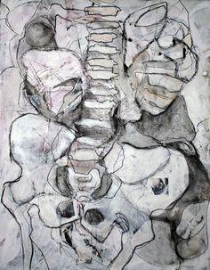 "© Jesika Ellis 2012 - Wormwood Mixed media on canvas, 22"" x 28""."