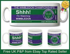 NEW SHHH! I'M WATCHING WIMBLEDON PERSONALISED 10oz CERAMIC MUG-GREAT GIFT IDEA! | eBay