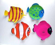 Lavoretti sull'estate per bambini - Piatti pesciolini