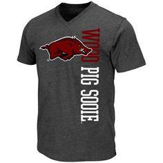 Arkansas Razorbacks Viper V-Neck T-Shirt - Charcoal $21.95 (fansedge.com)