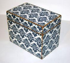Personalized Recipe Box 4x6 4 x 6 Custom - You Design It Handmade Wooden Recipe Card Wedding Guest Book Box. $34.00, via Etsy.