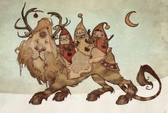 The Yuletide Beast by AudreyBenjaminsen on DeviantArt