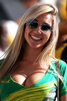 Hot fan of Brasil @ Football worldcup 2014