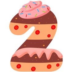 Sweet Number Two PNG Clipart Image
