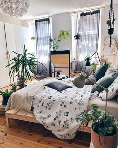 Boho Style Ideas for Bedroom Decors bedroom Boho Decors einrichtungsideen 851532242029958881 Dream Rooms, Dream Bedroom, Home Bedroom, Room Decor Bedroom, Modern Bedroom, Dorm Room, Bedroom Inspo, Bed Room, Bedroom Shelves
