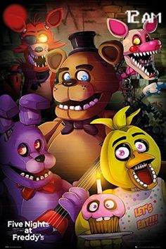"Five Nights At Freddy's - Gaming Poster / Print (Group) (Size: 24"" x 36"")"