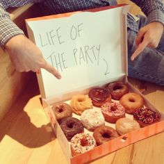Our donuts are the life of the party!