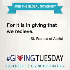 """""""For it is in giving that we receive. Francis of Assisi Gratitude Quotes, Positive Quotes, Francis Of Assisi, St Francis, Giving Quotes, Giving Tuesday, Giving Back, Fundraising, Social Work"""